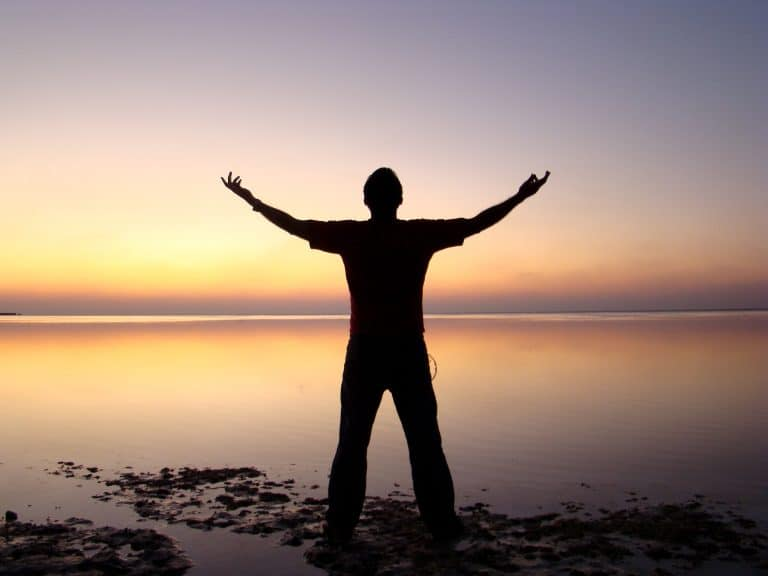 Man with Arms Outstretched