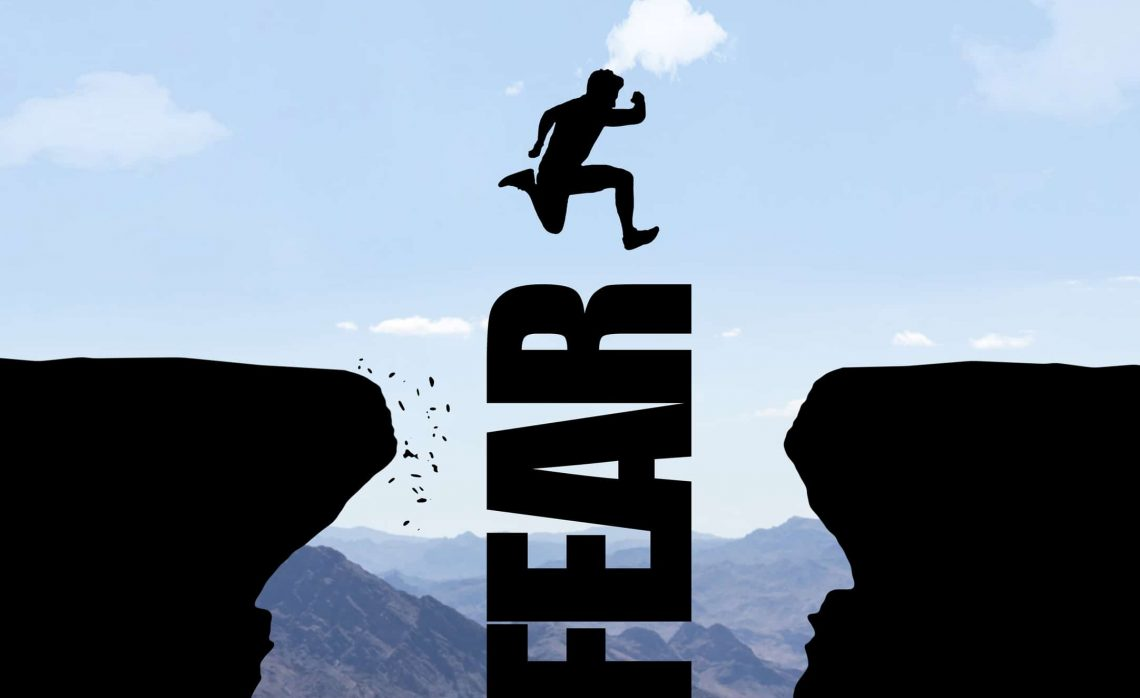 A Person Overcoming Fear
